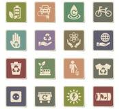 Alternative energy icon set Stock Image