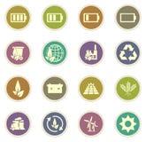 Alternative energy icons Stock Photography