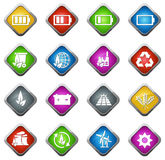 Alternative energy icons Stock Photos