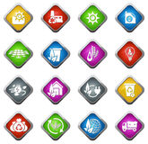 Alternative energy icons Royalty Free Stock Images
