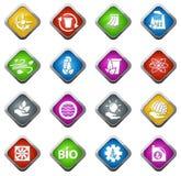 Alternative energy icons Stock Image