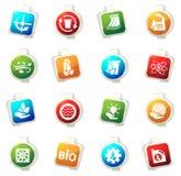 Alternative energy icons Royalty Free Stock Photos