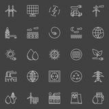 Alternative energy icons set Royalty Free Stock Images