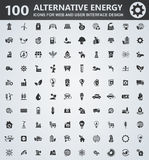 Alternative energy icons set. Alternative energy icons for web and user interface design Royalty Free Stock Images