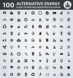 Alternative energy icons set. Alternative energy icons for web and user interface design Royalty Free Stock Photo