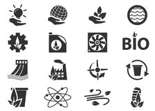 Alternative energy icons. Alternative energy simply icons for web and user interfaces Stock Photos