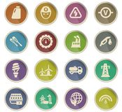 alternative energy icon set royalty free illustration