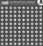 Alternative energy icons set Stock Image