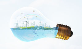 Alternative energy idea Royalty Free Stock Photo