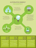 Alternative energy infographic Royalty Free Stock Images