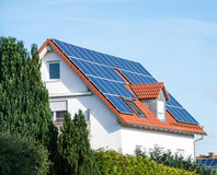 Alternative Energy for a Innovative House Royalty Free Stock Image