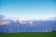 Alternative Energy Landscape Royalty Free Stock Photos