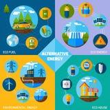 Alternative Energy Set Royalty Free Stock Photos