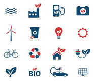 Alternative energy simply icons Stock Images