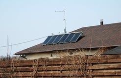 Alternative energy with solar Stock Photo