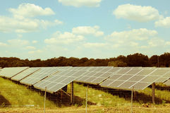 Alternative energy: solar panels Stock Images