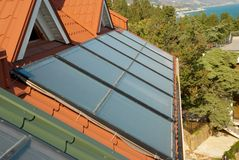 Alternative energy- solar system Royalty Free Stock Photography