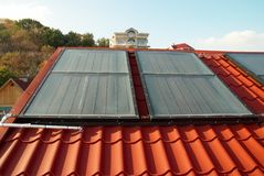Alternative energy- solar system Stock Image