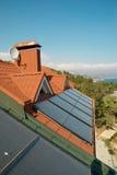 Alternative energy- solar system Stock Images