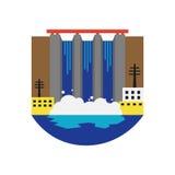 Alternative energy source hydroelectric vector illustration. Stock Photo