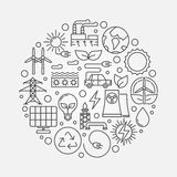 Alternative energy sources illustration Stock Image