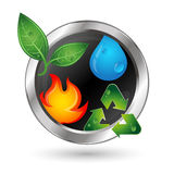 Alternative energy sources, recycling symbol Royalty Free Stock Photo