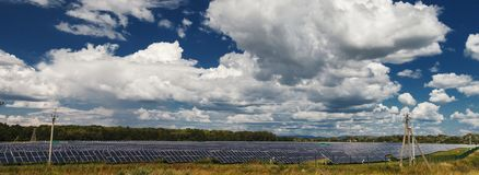 Alternative energy sources. Solar power stations. Outdoors Royalty Free Stock Images