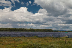 Alternative energy sources. Solar power stations. Outdoors Royalty Free Stock Photo
