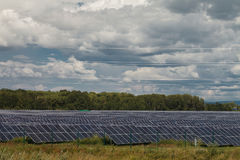Alternative energy sources. Solar power stations. Outdoors Royalty Free Stock Image