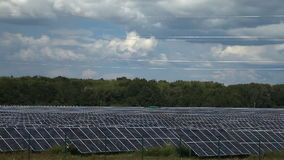 Alternative energy sources. Solar power stations stock video