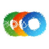 Alternative energy sources vector. Minimalistic vector symbols Stock Photography