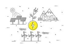 Alternative energy sources vector illustration Royalty Free Stock Photos