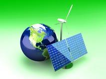 Alternative Energy - USA vector illustration