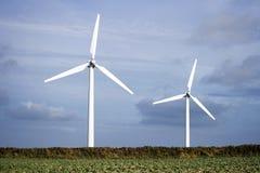 Alternative energy on wind farm Stock Image