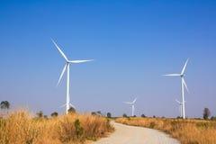 The alternative energy from wind generator farm Stock Photos