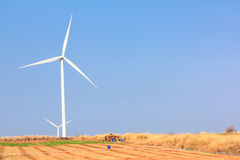 The alternative energy from wind generator farm Stock Image