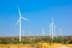 The alternative energy from wind generator farm Royalty Free Stock Photo