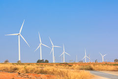 The alternative energy from wind generator farm Royalty Free Stock Images