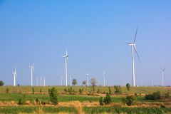 The alternative energy from wind generator farm Stock Images