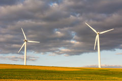 Alternative Energy with wind power Stock Image