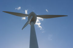 Alternative Energy through Wind Turbine Royalty Free Stock Photography