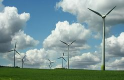 Alternative Energy Wind Turbines royalty free stock photos
