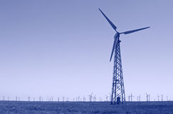 Wind turbines power station Stock Photography