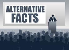 Alternative facts. Presenting alternative facts or fake news Stock Image
