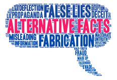 Alternative Facts Word Cloud Royalty Free Stock Photography