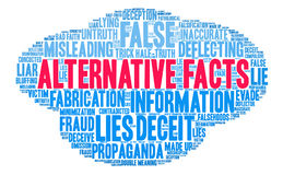 Alternative Facts Word Cloud Stock Image
