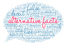 Alternative Facts Word Cloud Royalty Free Stock Image