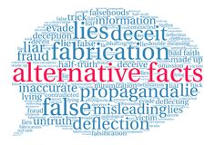 Alternative Facts Word Cloud Stock Images