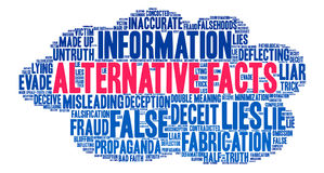 Alternative Facts Word Cloud Royalty Free Stock Photos