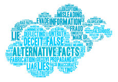 Alternative Facts Word Cloud Royalty Free Stock Images